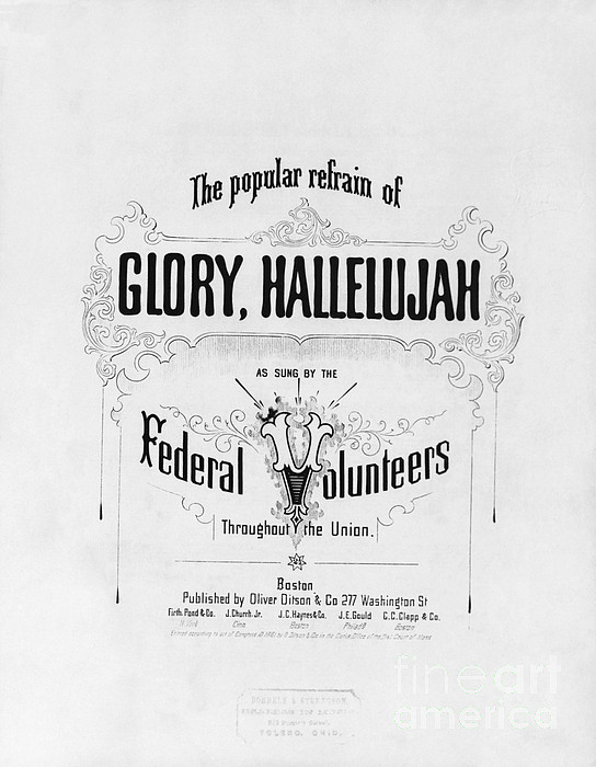 Historical Photograph - Glory, Hallelujah by Photo Researchers