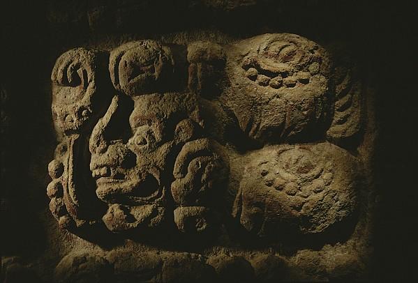 Horizontal Photograph - Glyph Representing The Mayan Rulers by Kenneth Garrett