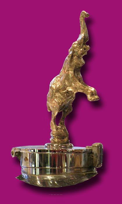 Gold Buggatti Mascot Photograph by Jack Pumphrey