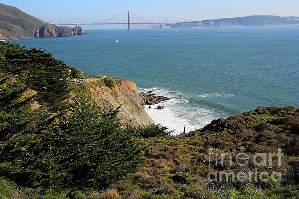 San Francisco Photograph - Golden Gate Bridge Viewed From The Marin Headlands by Wingsdomain Art and Photography