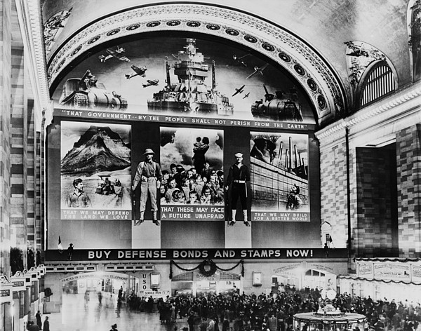History Photograph - Grand Central Terminal Mural. A Huge by Everett