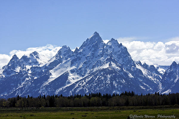 Grand Tetons Photograph - Grand Tetons 2 by Charles Warren