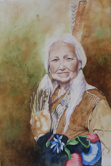 Grandmother Many Horses Painting by Patsy Sharpe