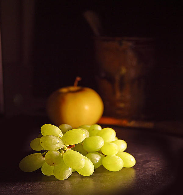 Chardonnay Photographs Photograph - Grapes  by Davor Sintic
