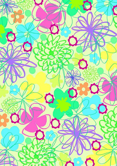 Flower Digital Art - Graphic Flowers by Louisa Knight