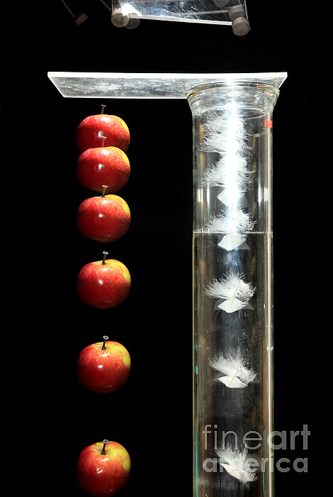 Acceleration Photograph - Gravity Comparison by Ted Kinsman