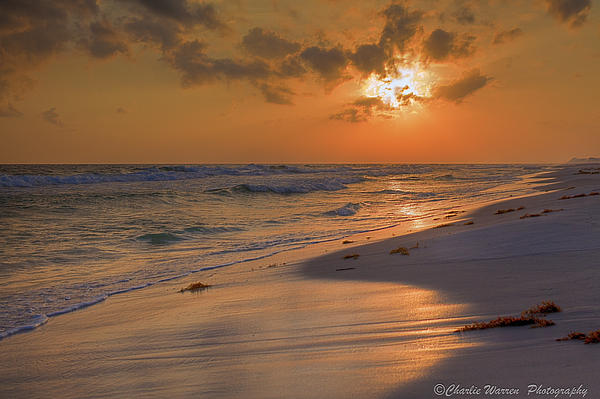 Sunset Photograph - Grayton Beach Sunset 7 by Charles Warren