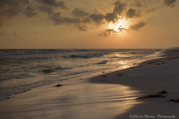 Sunset Photograph - Grayton Beach Sunset by Charles Warren