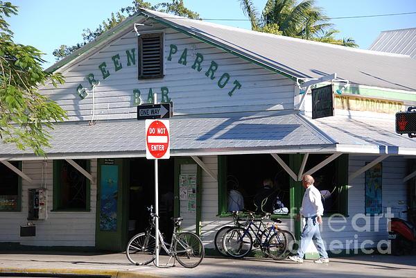 Key West Photograph - Green Parrot Bar In Key West by Susanne Van Hulst