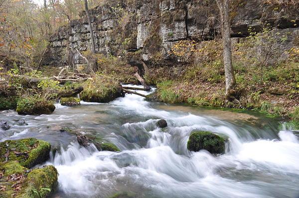 Ozarks Photograph - Greer Spring Fall 1 by Marty Koch