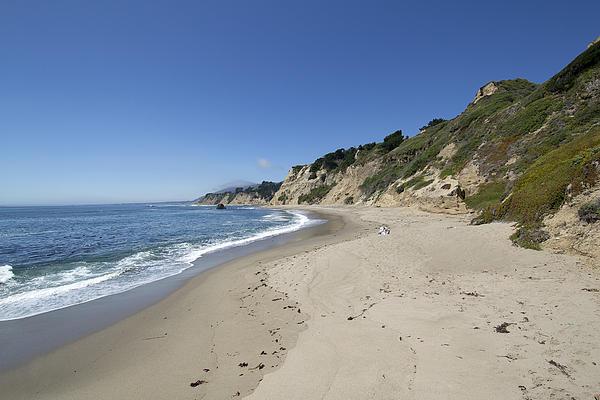 Greyhound Photograph - Greyhound Rock State Beach Panorama - Santa Cruz - California by Brendan Reals