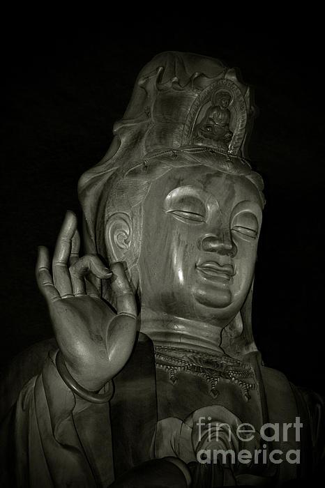 Deity Photograph - Guan Yin Bodhisattva - Goddess Of Compassion by Christine Till