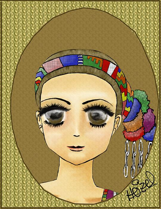 This Is A Drawing Of The Guatemalan Hairstyle Of Santo Tomas La Union Drawing - Guatemalan Costume Santo Tomas La Union by Heizel Gonzalez