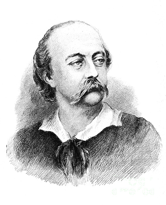 Art Photograph - Gustave Flaubert, French Author by Photo Researchers