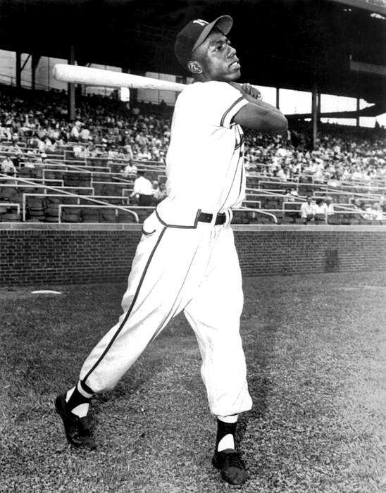 1950s Photograph - Hank Aaron Of The Milwaukee Braves, Ca by Everett