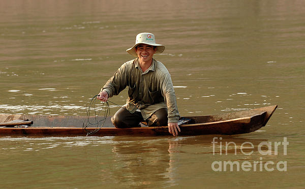 Mekong Photograph - Happy To See You by Bob Christopher