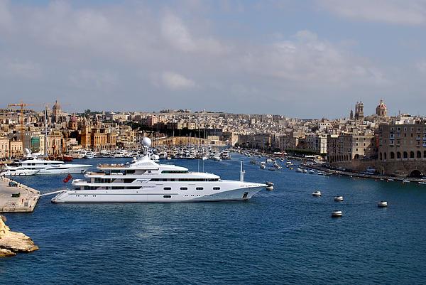Valletta Photograph - Harbour Valletta. by Terence Davis