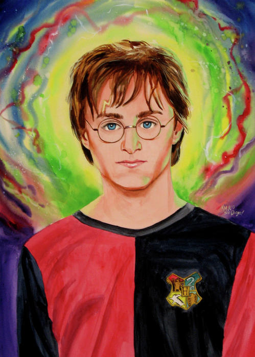 Movies Painting - Harry Potter by Ken Meyer
