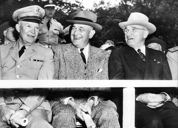 History Photograph - Harry Truman Observing The First Armed by Everett