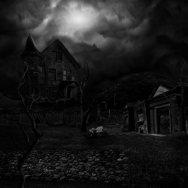 Haunted House Digital Art - Haunted House II by Lisa Evans