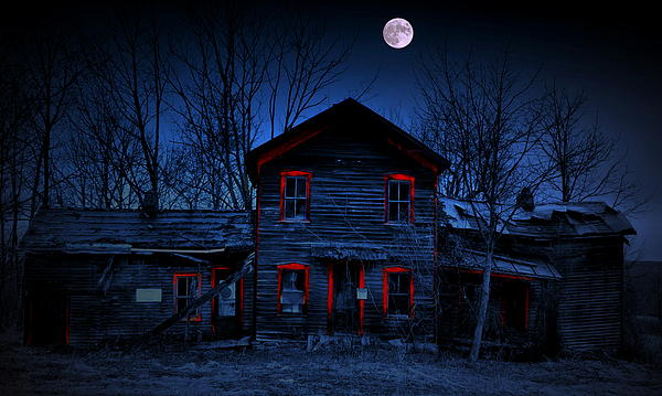 House Photograph - Haunted Red by Emily Stauring