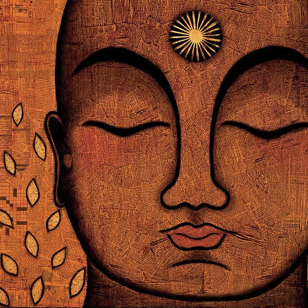 Buddha Painting - He Knows by Gloria Rothrock