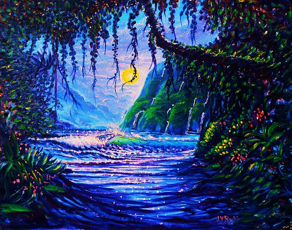 789 Painting - Heart Path To Paradise by Joseph   Ruff