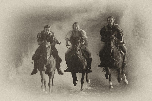 Horses Photograph - Hell Bent For Leather by Rianna Stackhouse