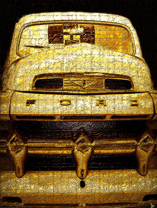 Artwork Painting - Henrys Ford Truck by David Lee Thompson