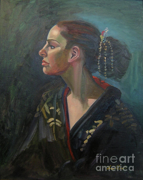 Figure Art Painting - Her Kimono by Lilibeth Andre