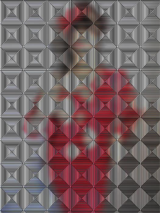 Original Digital Art - Hidden IImages Its All A Blur by HollyWood Creation By linda zanini