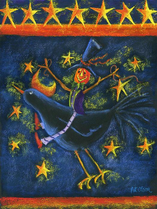 Halloween Pastel - Hiho Mr. Crow by Pat Olson