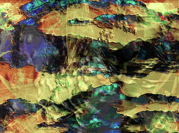 Abstraction Digital Art - Hills Of Gold by Monroe Snook