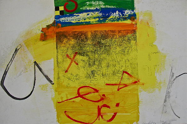 Abstract Paintings Painting - Hockey Glyphs  by Cliff Spohn