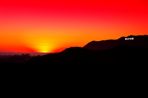 Hollywood Photograph - Hollywood Sign Sunset by Jera Sky