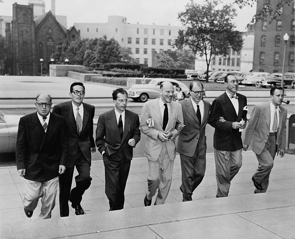 History Photograph - Hollywood Writers Go On Trial. Seven by Everett