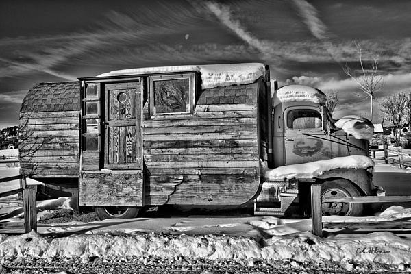 Mobile Photograph - Home On Wheels - Bw by Christopher Holmes