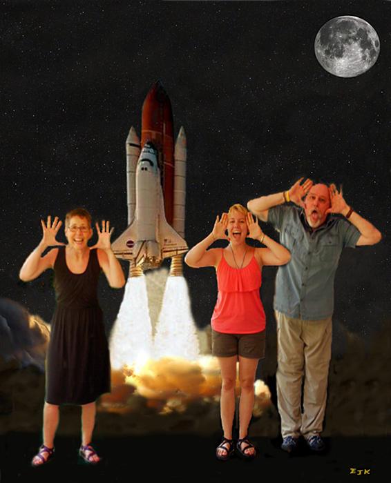 The Scream World Tour Space Shuttle Mixed Media - Hoovler Family Scream by Eric Kempson