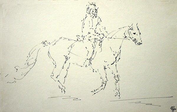Human Drawing - Horse 32 by Mohd Raza-ul Karim