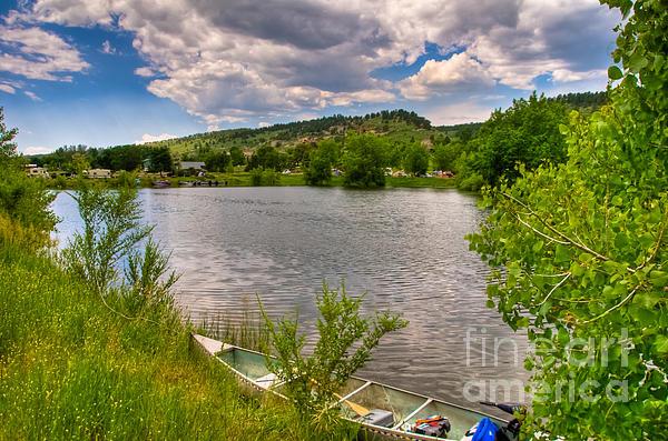 Horsetooth Reservoir Photograph - Horsetooth Reservoir Summer Scene by Harry Strharsky
