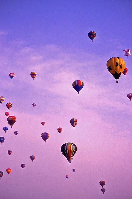 Hot Air Photograph - Hot Air Balloon Race - 1 by Randy Muir