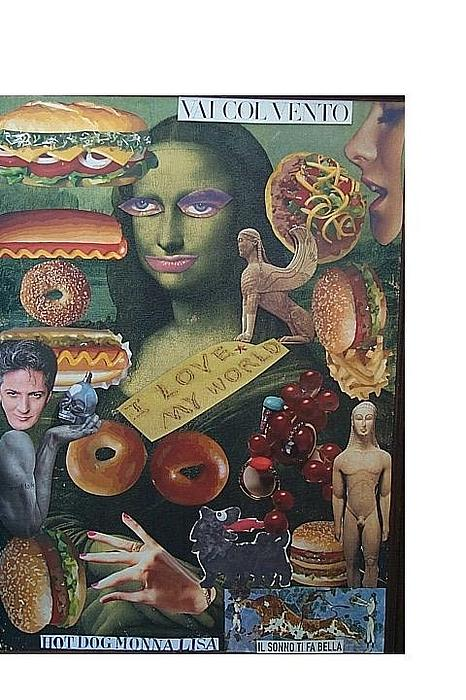 What Is Life? Mixed Media - Hot Dog Monna Lisa by Francesco Martin