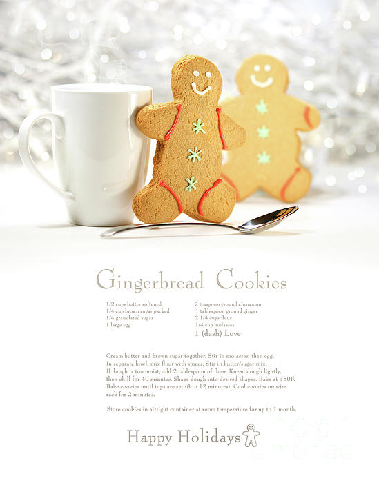 Background Photograph - Hot Holiday Drink With Gingerbread Cookies  by Sandra Cunningham