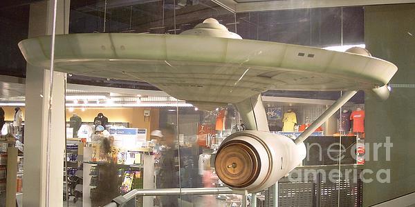 Star Trek Pyrography - Hot Rod Ship by David Karasow
