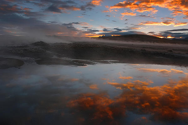 Hot Springs Photograph - Hot Springs In The Bolivian Altiplano. by Eric Bauer