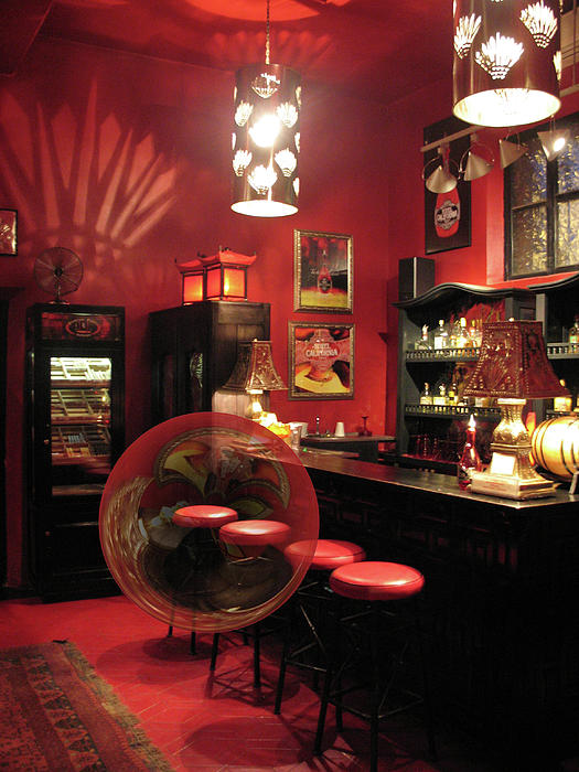 Bar Photograph - Hotel California With Bubble by Pam Blackstone