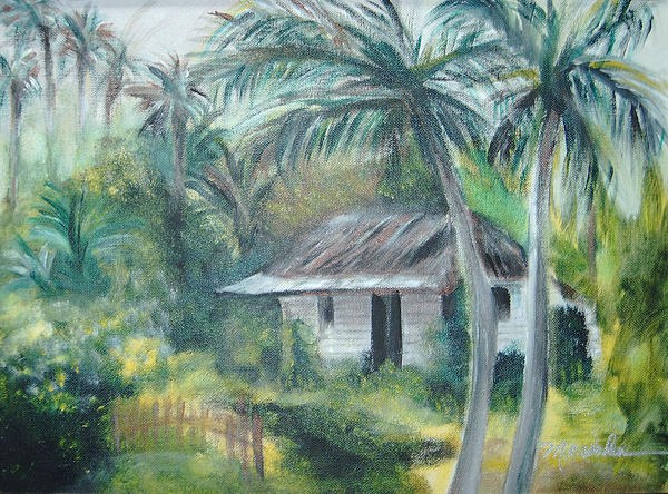 Cuba Painting - House Of Palms by Beth Dolan