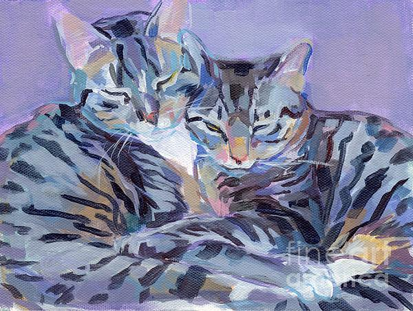 Kitty Painting - Hugs Purrs And Stripes by Kimberly Santini