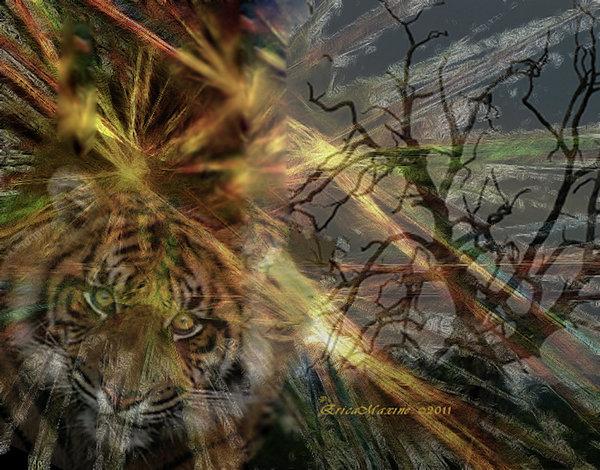 Fantasy Photograph - Hunter by EricaMaxine  Price