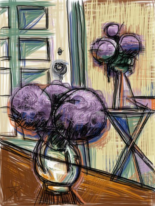 Hydrangeas Mixed Media - Hydrangeas Galore by Russell Pierce